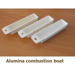 Alumina combustion boat