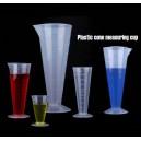 Plastic cone measuring cup